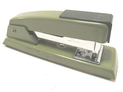 Vintage Green Swingline Stapler 711 Small Heavy Duty Solid Metal Usa Made Tested