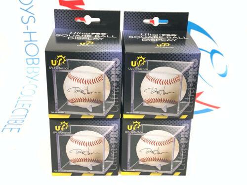(4) Ultra Pro Baseball Cube, Uv Protected Baseball Display Case Clear New