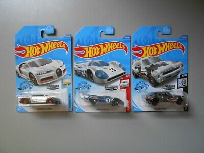 2020 HOT WHEELS ZAMAC '16 BUGATTI CHIRON,  '68 CHEVY NOVA & PORSCHE 917 LH 3 LOT