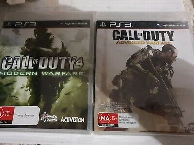 2 GAMES , CALL OF DUTY 4 ADVANCED & WARFARE PS3 _...