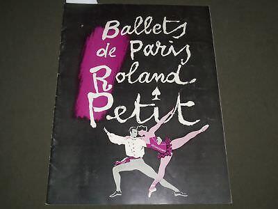 1954 BALLETS DE PARIS PETIT PROGRAM - LESLIE CARON - J 2610