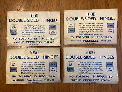 Lot of 4 1000 Double-sided Hinges By Peerless - Vintage