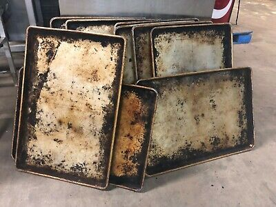 Set Of 10 Commercial Aluminum 18x26 Full Size Bakery Baking Cookie Sheet Pans