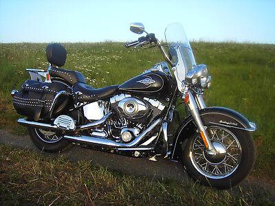 Harley Davidson Heritage Softail Classic, schwarz, 1. HAND!
