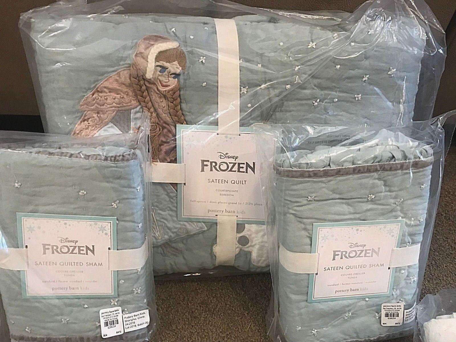 Pottery Barn Kids Disney FROZEN full quilt shams sheet set i