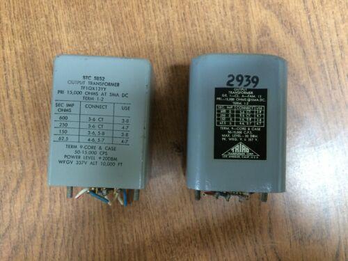 Vintage BTC 5852 and Triad 2939 output transformers