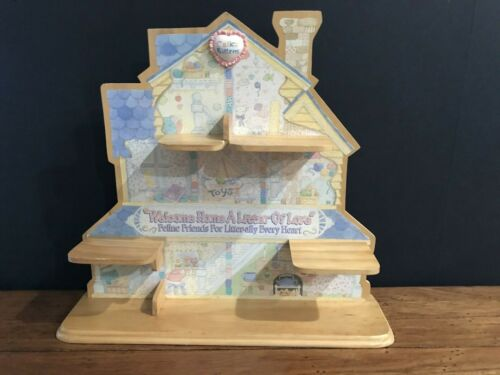 Vintage Calico Kittens Enesco For Figurines 1996 Limited Edition Display Shelf