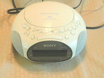 SONY Dream Machine ICF-CD831 CD Radio Dual Alarm Clock Audio White