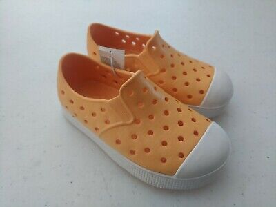 Old Navy Toddler Boys (Old Navy Toddler Boy Perforated Slip-On Sneakers (Water Shoes) Size 7 Orange)