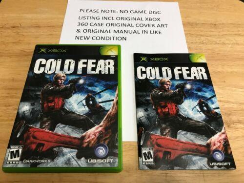 Cold Fear Original Xbox Original Case Cover Art Manual NO GAME