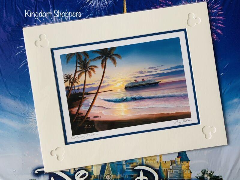 Disney Cruise Line Castaway Dream By Larry Dotson Matte Print 11 X 14