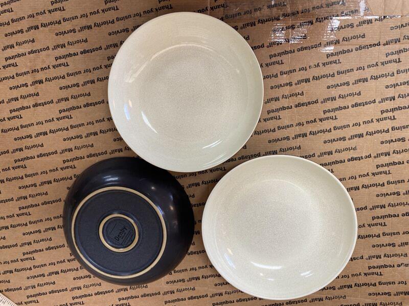 3 Denby Speckled Green Pasta Bowls