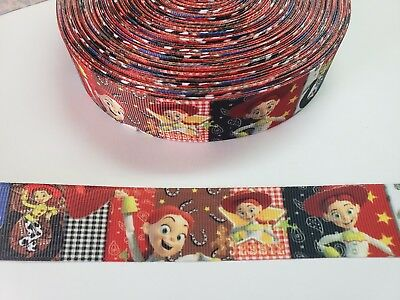 "5 Yards 1""  jessie toy story Grosgrain Ribbon Hair Bow Supplies. for sale  Perris"