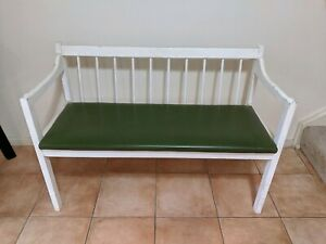 Small white timber bench seat - SOLD pending pickup