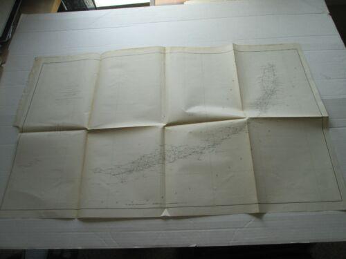 ONE (1) 1857 COAST SURVEY, TRIANGULATIONS, S-F, NO. VI, BISCAYNE TO TORTUGAS