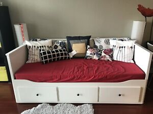 IKEA HEMNES Daybed with 3 drawers + two mattress, ALMOST NEW