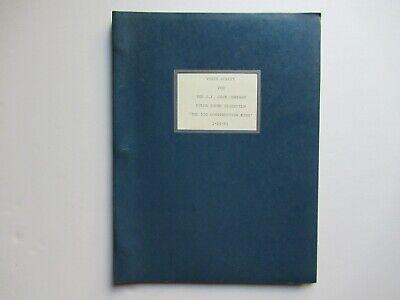 1965 J.i Case 530 Ck Tractor Voice Script For Color Sound Slide Film