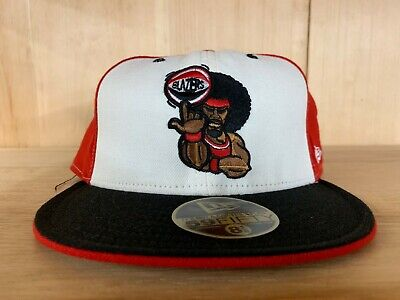 Vintage Fitted Cap (VINTAGE NEW ERA PORTLAND BLAZERS FITTED HAT CAP BLACK RED WHITE 59FIFTY )