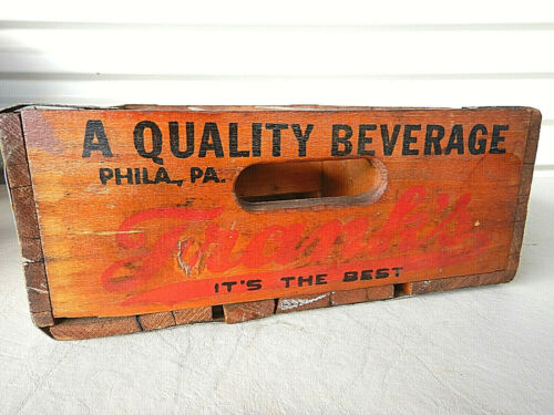 Franks Beverage Crate Wooden Box Bottle Soda Philadelphia Pennsylvania #9700