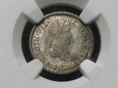 1820 NG Guatemala 1/2 Real NGC MS 64+