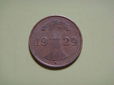 Germany, Weimar Republic 1 Rentenpfennig, 1929 A