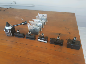 NEW! Metal lathe quick change toolpost loaded with tool holders  Charmhaven Wyong Area Preview