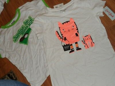 girls's 2 shirts tops ~ Junior mints candy & Halloween cats ~ large 10-12](Top Halloween Candy 10)