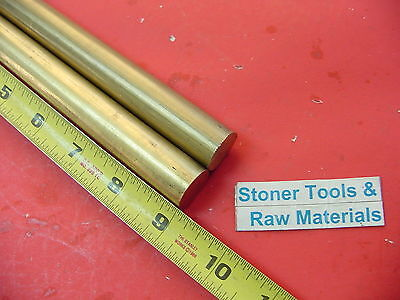 2 Pieces 78 C360 Brass Solid Round Rod 9 Long New Lathe Bar Stock .875 H02