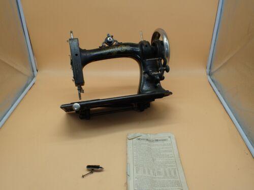 SUPER RARE Antique 1879 White Treadle Sewing Machine w/ Manual