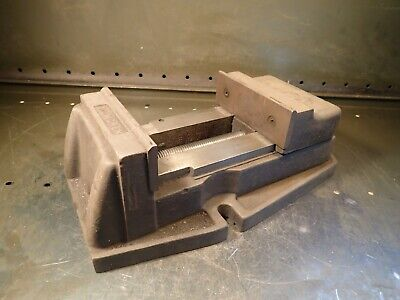 Palmgren 6 Mill Milling Machinist Vise Jaws Open 6-58 W Ratchet Handle Used