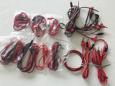 10 Lot Test Lead Cables Probes Etc For Digital Multimeters 7 New 3 Used