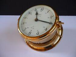 Schatz Ship's Bell Clock Brass/ Electric/ Ocean Quartz / Made West Germany/ Mint