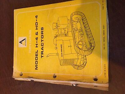 Allis- Chalmers Allis Chalmers H-4 Hd-4 Dozer Tractor Parts Catalog List Manual