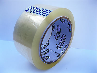 12 Roll  Clear Carton Sealing Packing Tape Shipping 2