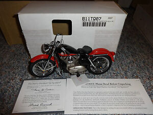FRANKLIN MINT HARLEY DAVIDSON XL SPORTSTER 1957  SCALE 1:10  NEW IN BOX