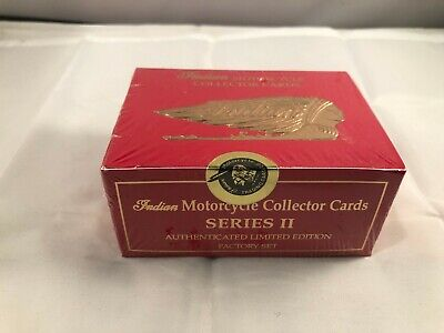 Indian Motorcycle Collector Cards Series II Factory Set, New Sealed Set