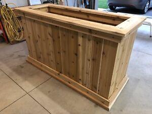 Cedar Planter Box built to order.