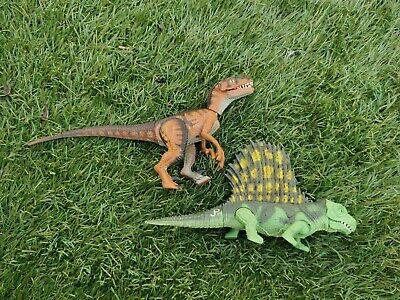 Jurassic Park Dinosaur Dimetrodon & Raptor 1993 Kenner lovely condition
