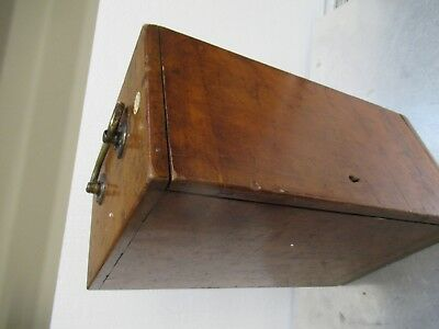 Antique Empty Wood Box Case Beck London Uk Microscope Part As Pictured Tb-5-2