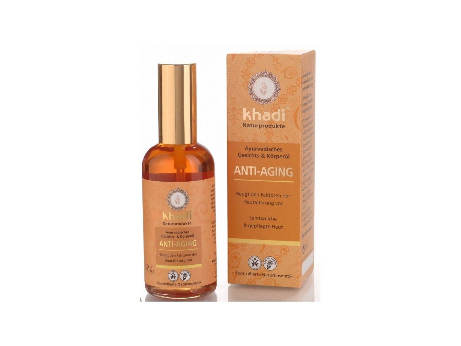 (13,99€/100ml) Khadi Anti Aging 100ml Gesichtsöl und Körperöl