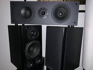 5 hauts parleurs Polk Audio + SUB + Ampli Technics SA-EX500