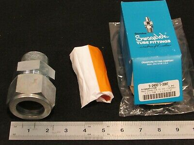 New Swagelok S-2400-1-20rt 1-12 X 1-14 Male Connector To Iso Tapered