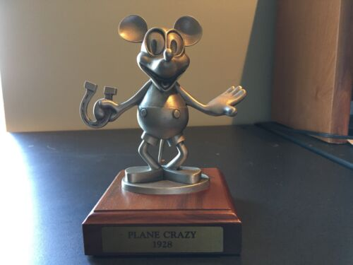 "Disney Mickey Mouse ""Plane Crazy 1928"" Pewter Figurine LIMITED EDITION 208/2500"