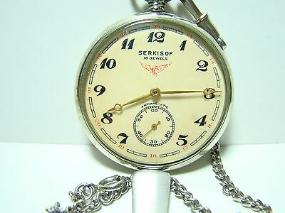 SERKISOF SOVIET MOLNIA MOLNIJA POCKET WATCH USSR