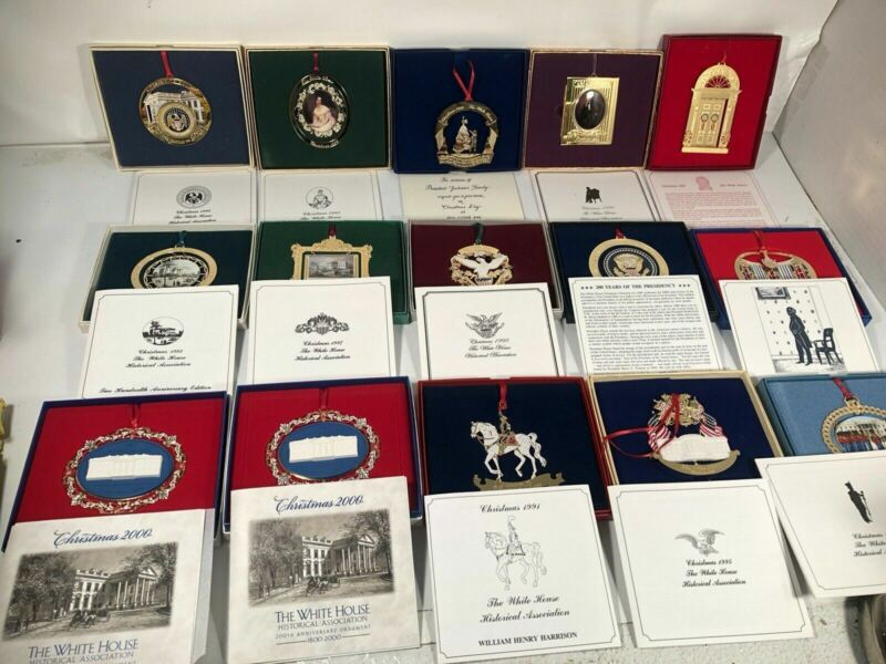 White House Historical Association Christmas Ornaments Lot 1987 - 2000