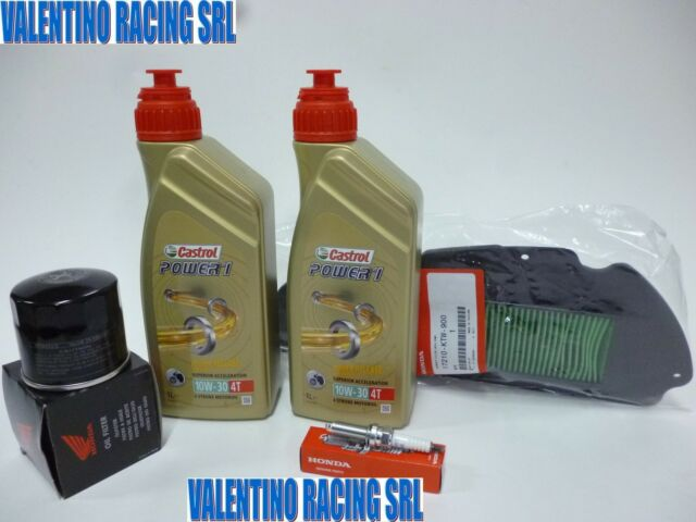 REPLACEMENT KIT SCOOTER HONDA SH 300 FROM 07 2 LT OIL+FILTERS + SPARK PLUG ORIG