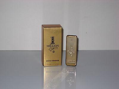 Paco Rabanne 1 ONE MILLION EDT Men 0.17 Oz / 5 Ml Splash Mini New In Box