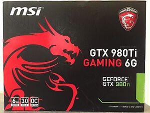 MSI GTX 980Ti 6Gb New in Box Largs Bay Port Adelaide Area Preview