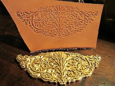 Ornate Floral Leather Bookbinding Finishing Tool Stamp Embossing Die St7