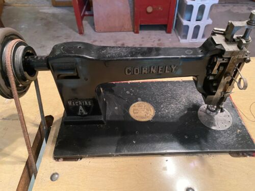 Antique Working Cornely Class A Embroidery Machine, Motor & Attachments